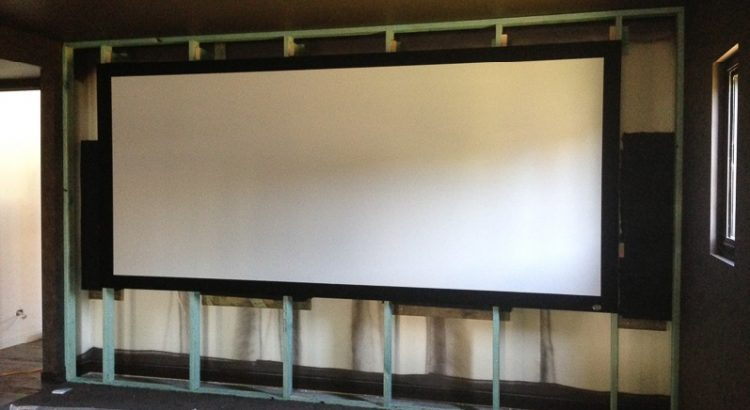 acoustically transparent projector screen